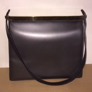 Gucci Black Leather Vintage Shoulder Bag
